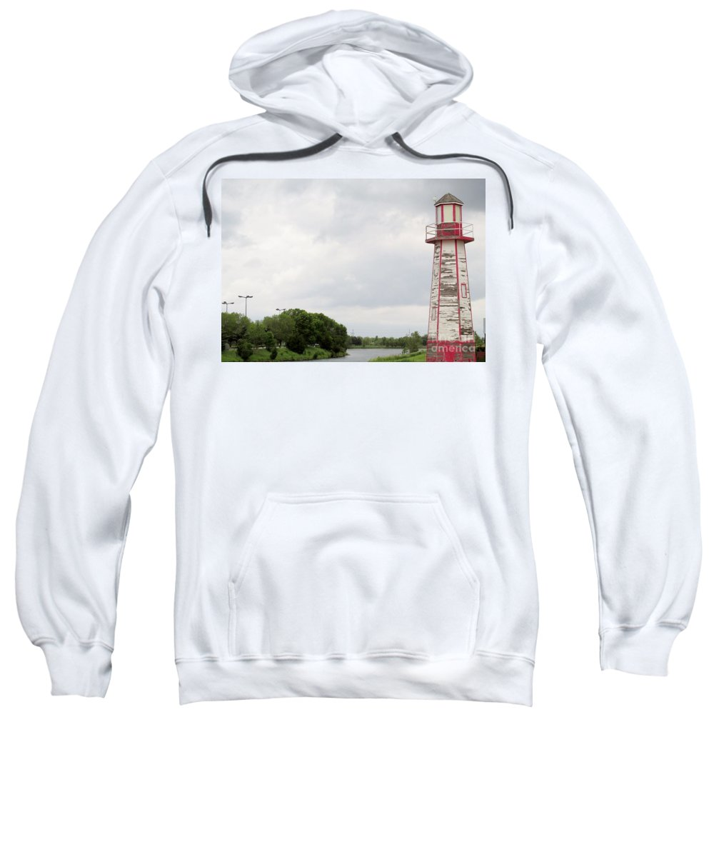Little Lighthouse Sweatshirt featuring the photograph Little Lighthouse by Don Baker