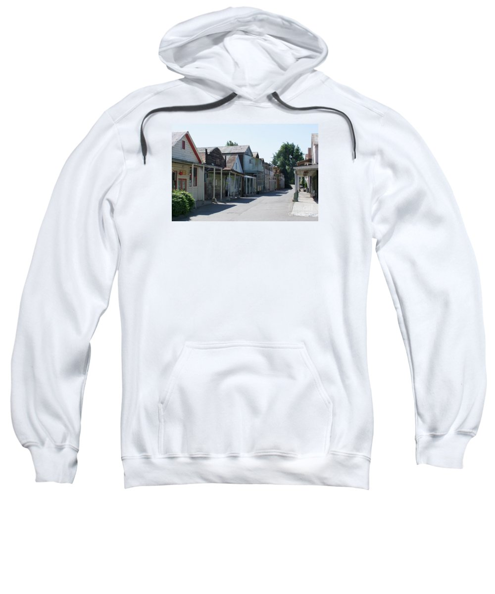 Landscapes Sweatshirt featuring the photograph Locke Chinatown Series - Main Street - 1 by Mary Deal