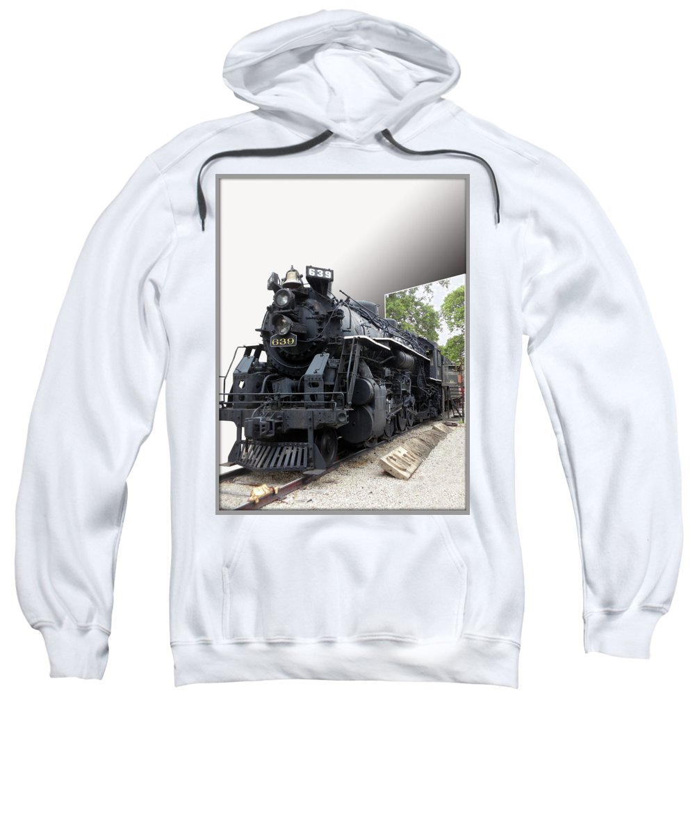 Trains Sweatshirt featuring the photograph Locomotive 639 Type 2 8 2 Out Of Bounds by Thomas Woolworth
