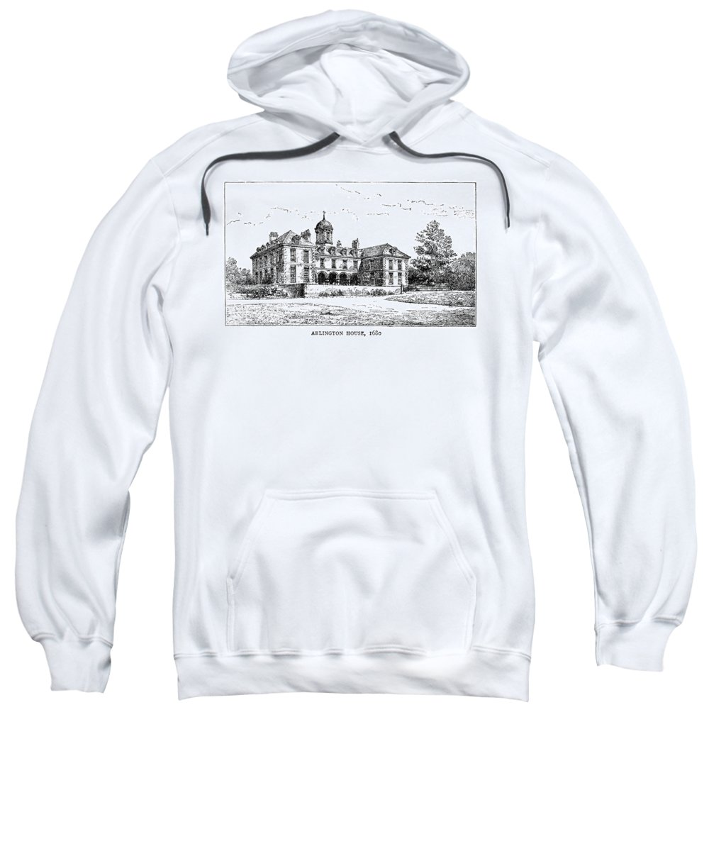 1680 Sweatshirt featuring the painting London Arlington House by Granger