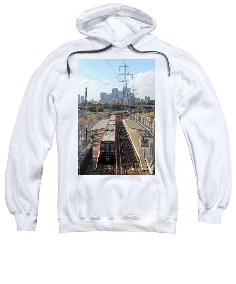 London Sweatshirt featuring the photograph London Skyline by Julia Gavin