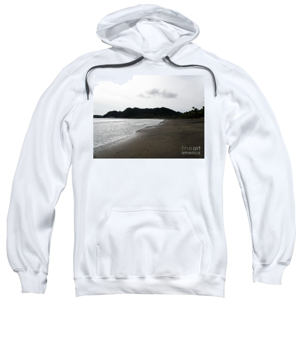 Costa Rica Sweatshirt featuring the photograph Lonely Beach In Costa Rica by DejaVu Designs
