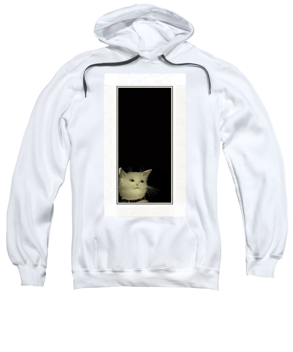 Diane Strain Sweatshirt featuring the painting Long In Thought by Diane Strain