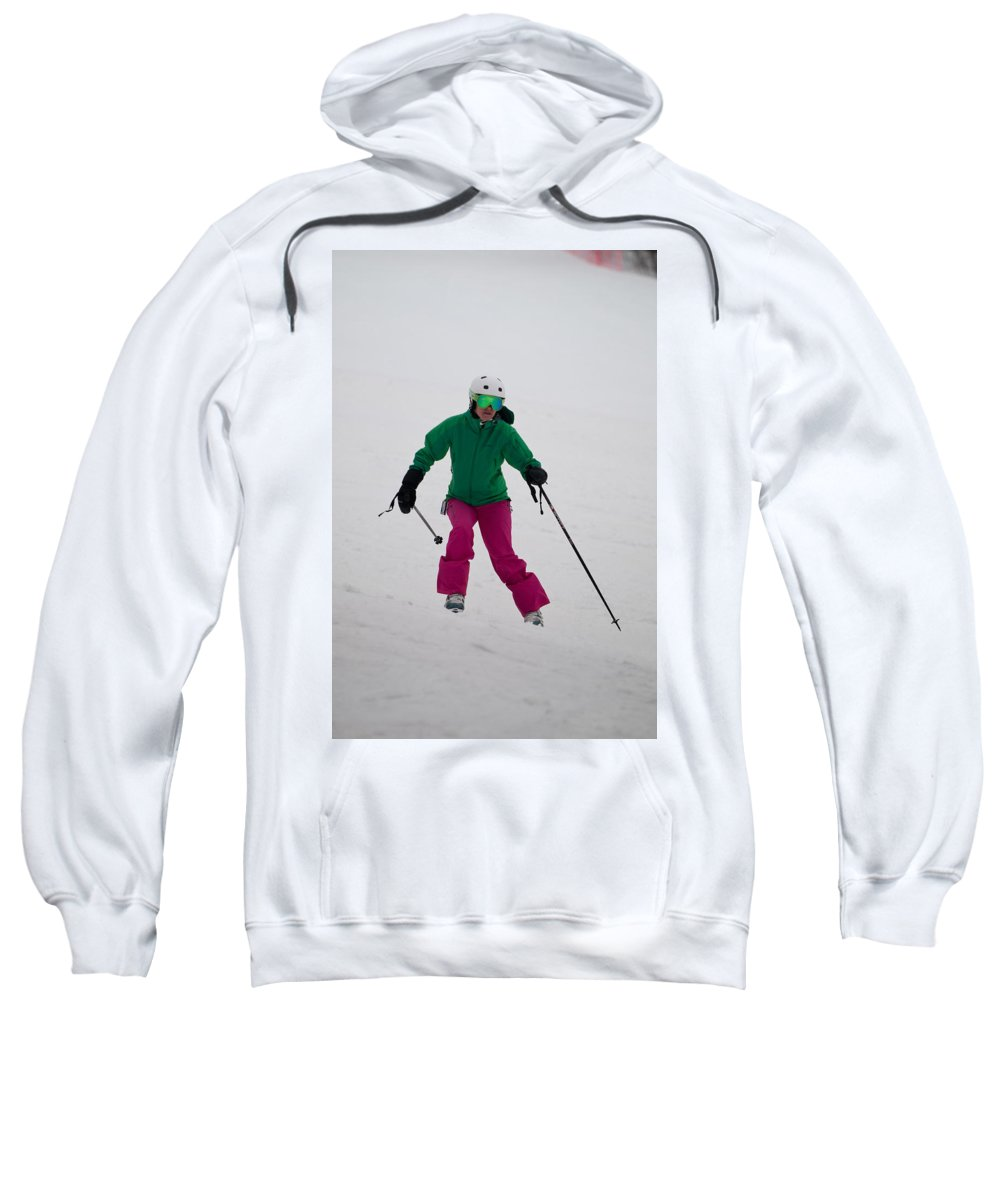 """nashua Sprint Y-triathlon"" Sweatshirt featuring the photograph Loon Run 22 by Paul Mangold"