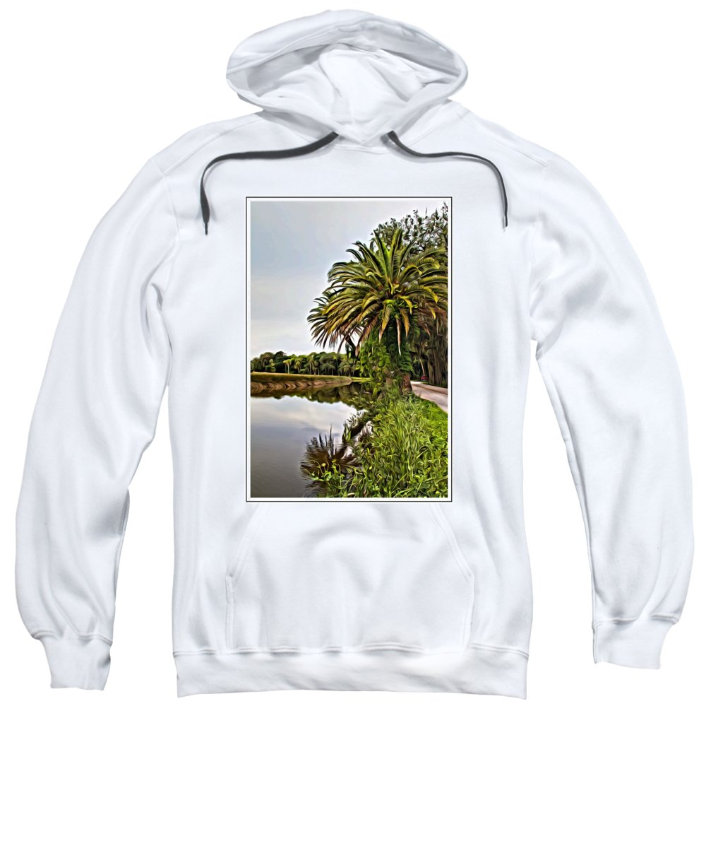 The Loop Sweatshirt featuring the photograph Loop Reflect by Alice Gipson