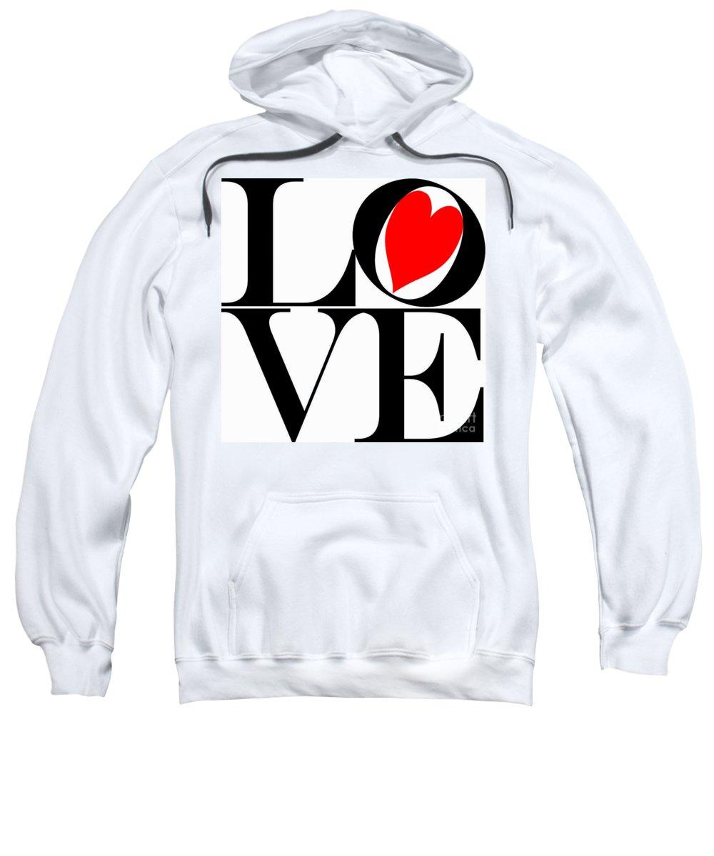 Mariola Sweatshirt featuring the photograph Love All Around by Mariola Bitner