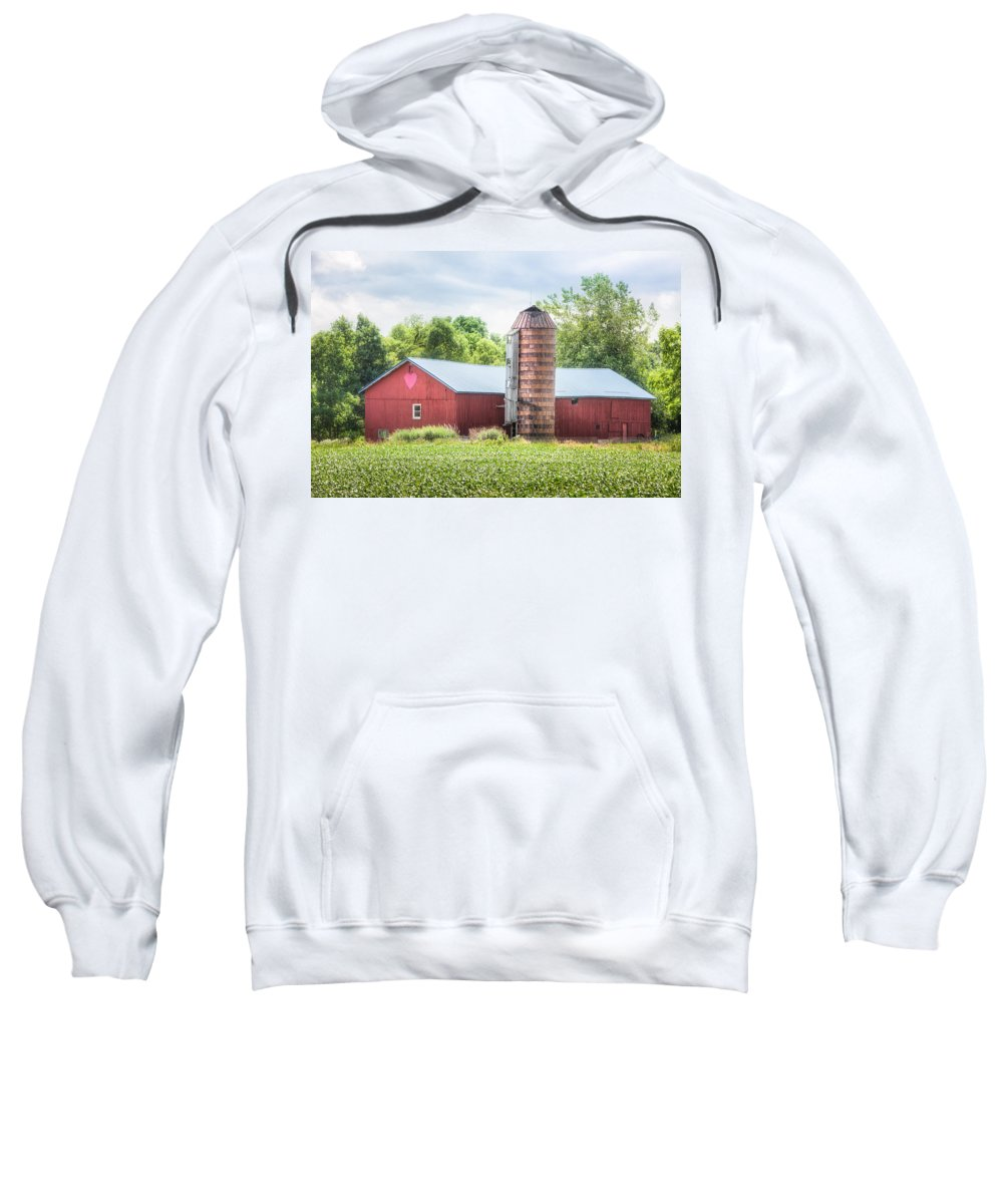 Love Sweatshirt featuring the photograph Love Barn by Gary Heller