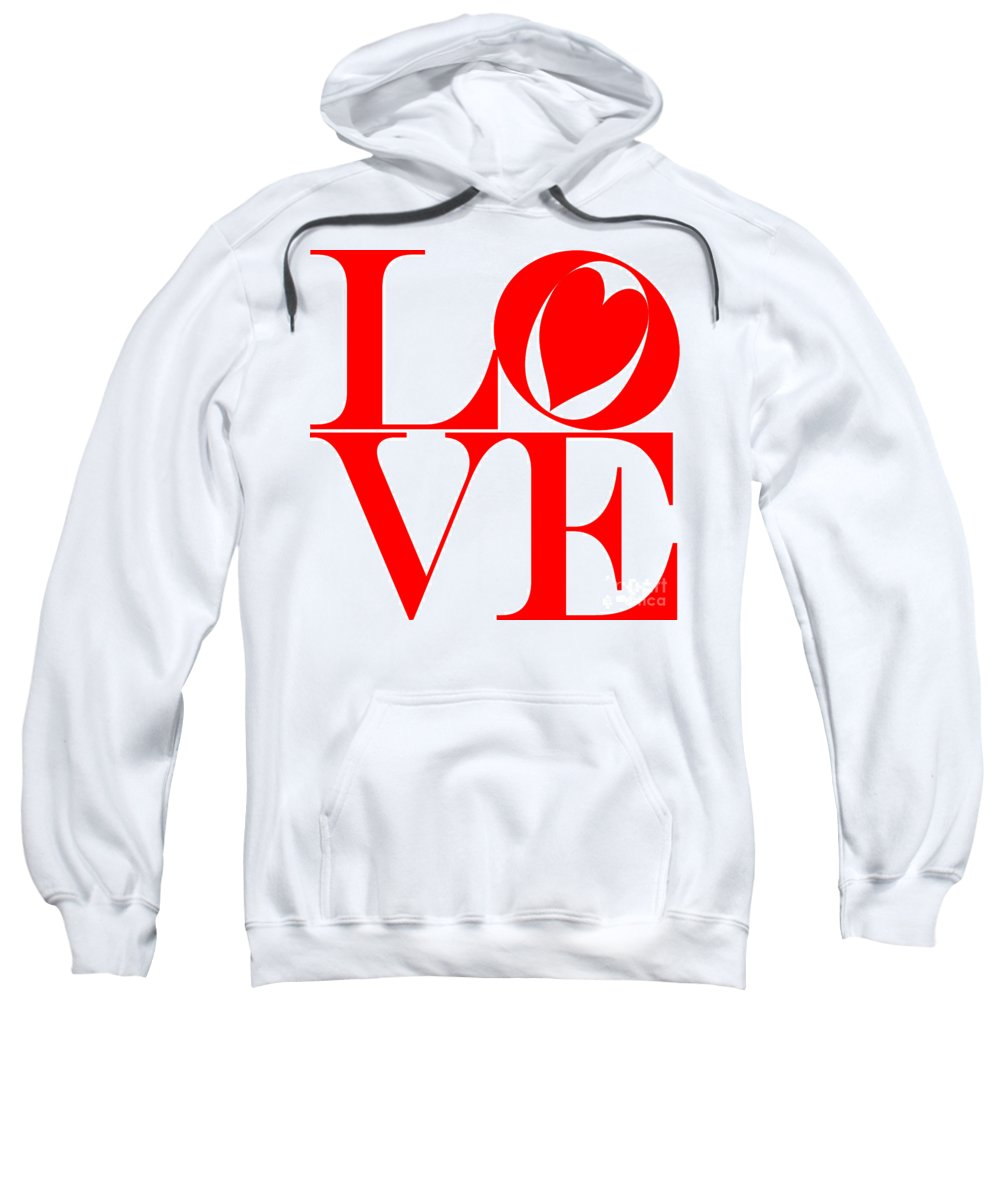 Mariola Sweatshirt featuring the photograph Love In Red by Mariola Bitner
