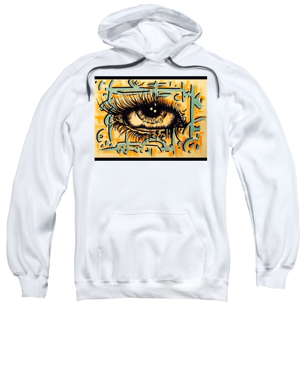 Eye Sweatshirt featuring the photograph Love Is by Lowkey Luciano