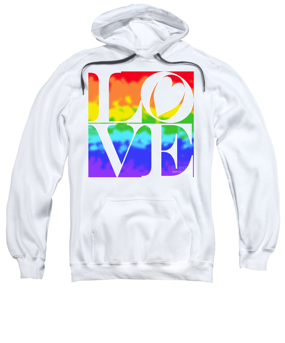 Mariola Sweatshirt featuring the photograph Love The Rainbow by Mariola Bitner