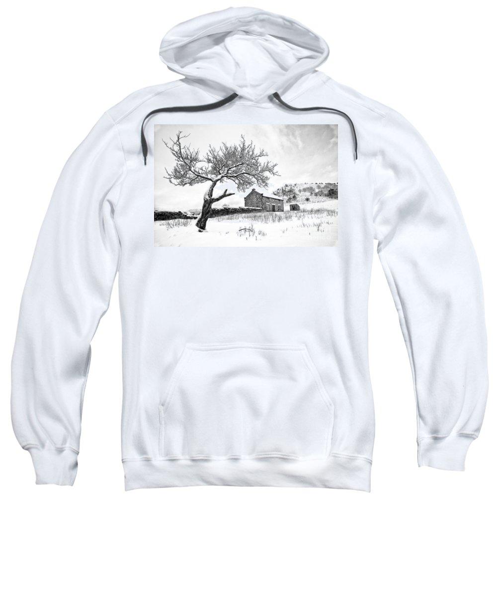 January Sweatshirt featuring the photograph Low Horcum by Richard Burdon