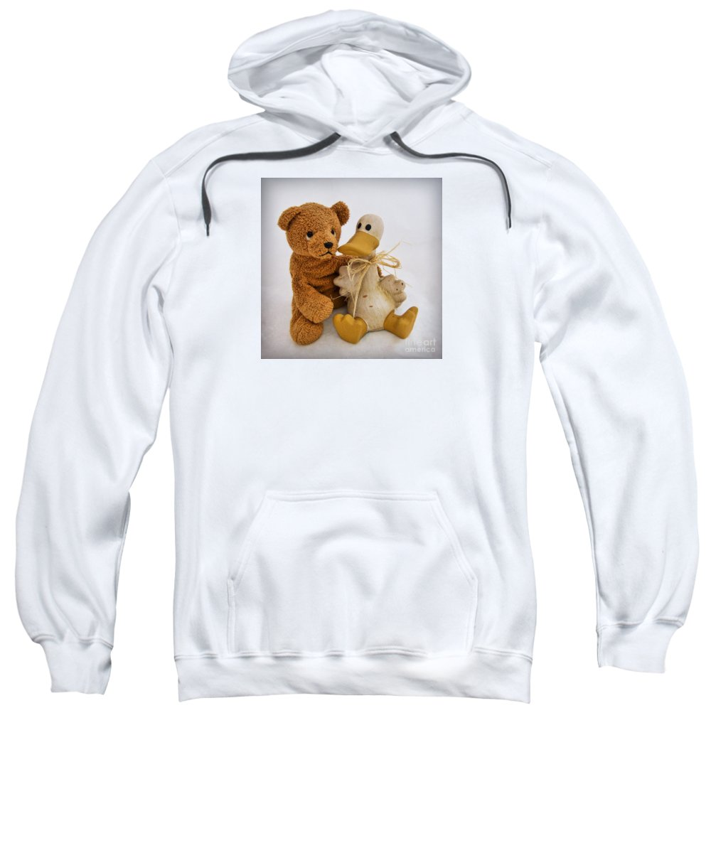 Teddy Bear Sweatshirt featuring the photograph Luv A Duck by Susie Peek