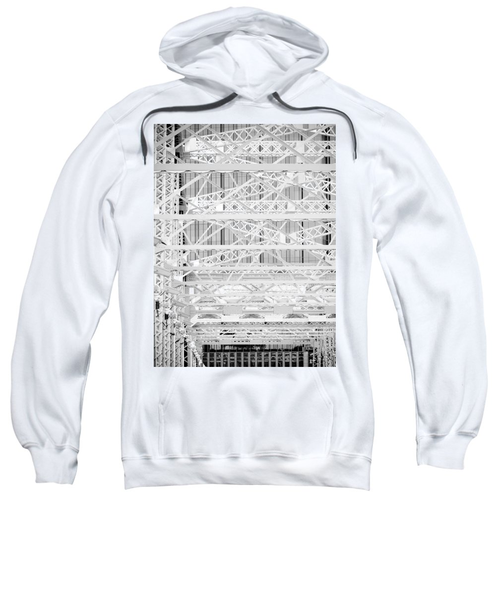 Machinations Sweatshirt featuring the photograph Machinations by Skip Hunt