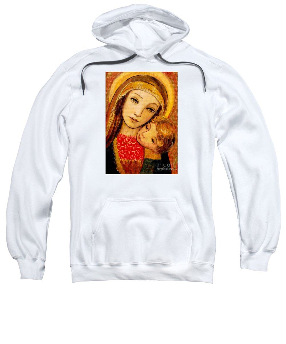 Mother Sweatshirt featuring the painting Madonna And Child by Shijun Munns
