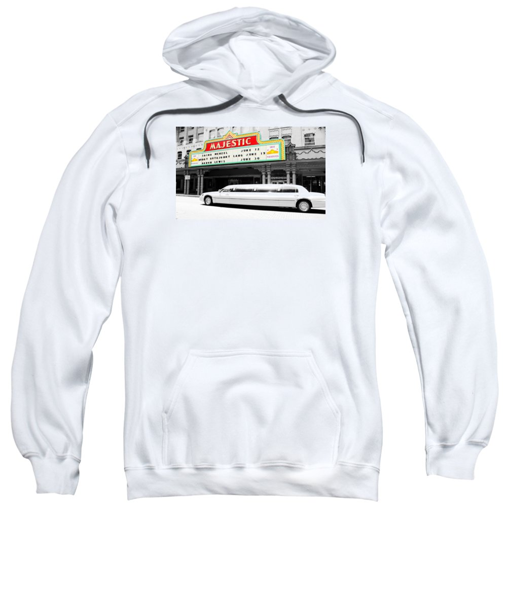 Downtown Sweatshirt featuring the photograph Majestic Night At The Show by Brooke Fuller