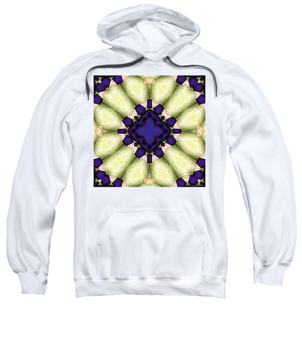 Geometric Art Sweatshirt featuring the digital art Mandala 118 by Terry Reynoldson
