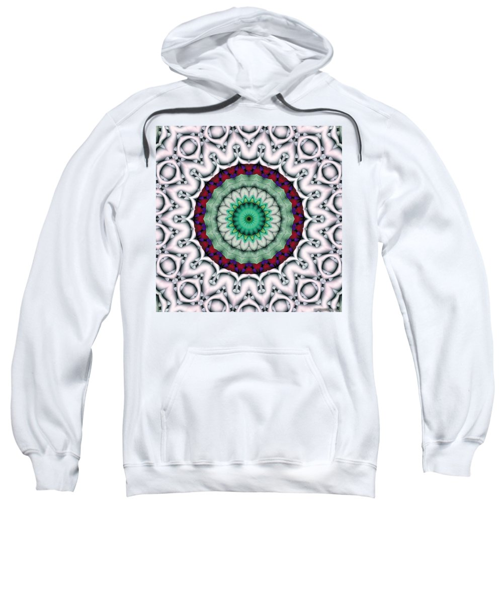 Relaxing Pattern Sweatshirt featuring the digital art Mandala 9 by Terry Reynoldson