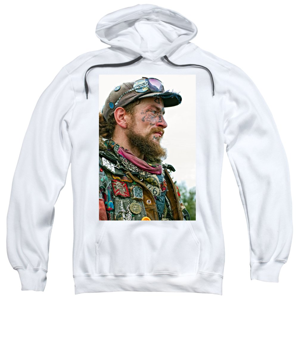 French Quarter Sweatshirt featuring the photograph Marching To His Own Drummer by Steve Harrington