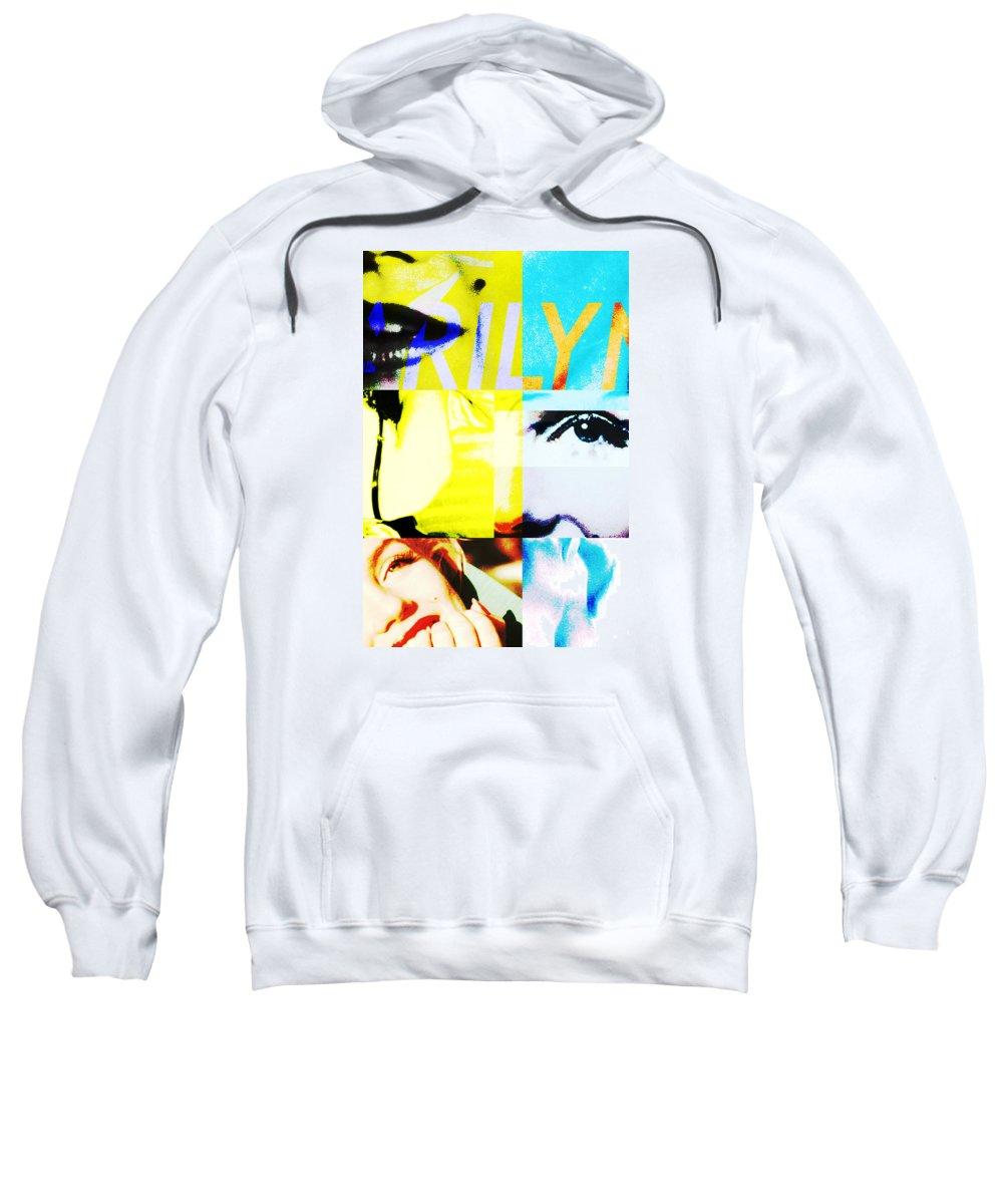 Marilyn Monroe Sweatshirt featuring the digital art Marilyn Monroe by Patricia Hubert