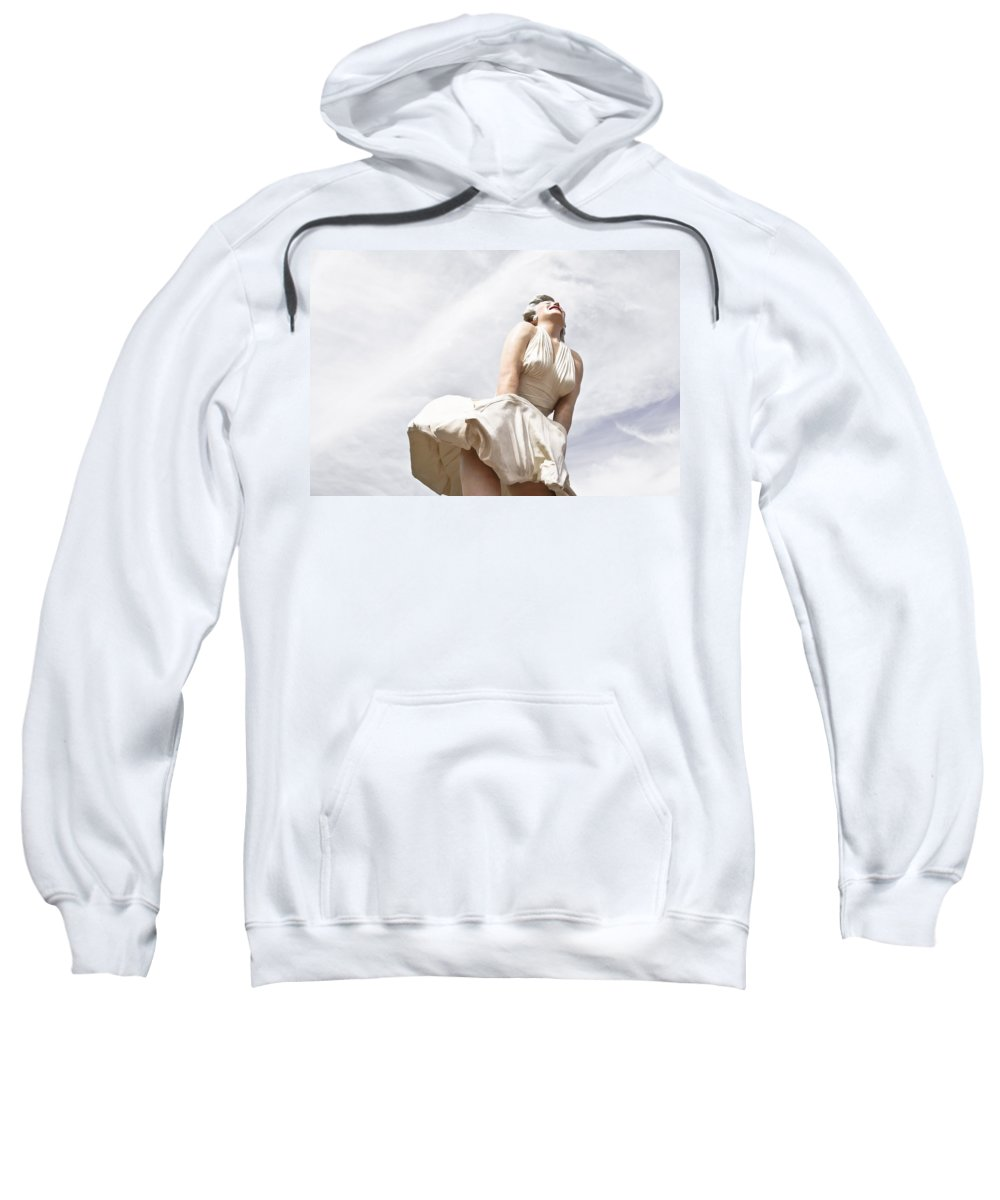 Statue Sweatshirt featuring the photograph Marilyn Monroe Statue by Ben Graham