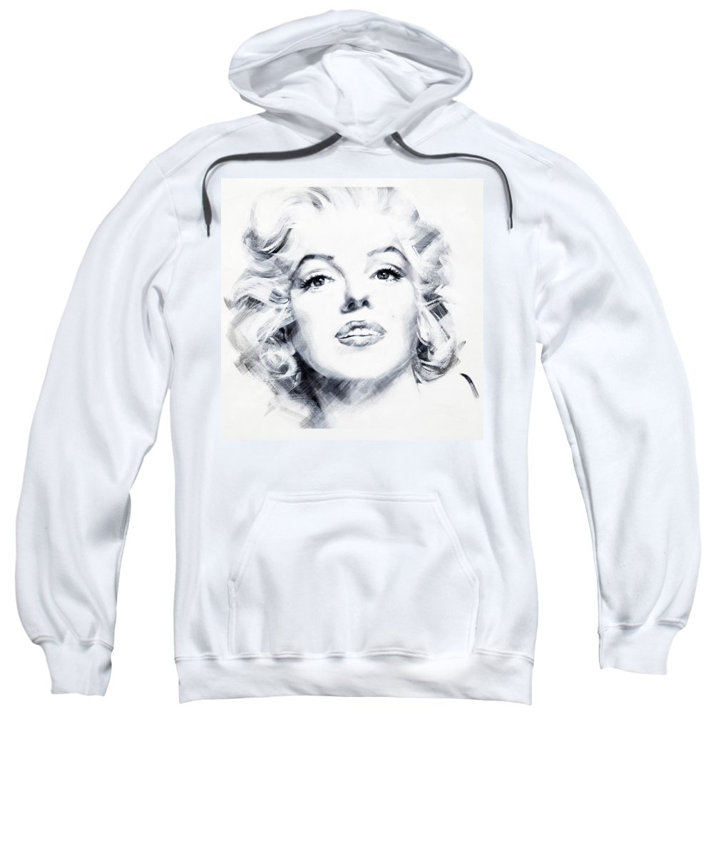 Marilyn Sweatshirt featuring the painting Marilyn 2 by Jean Pierre Rousselet