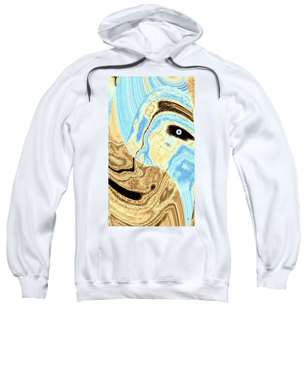 Masked- Man Abstract Sweatshirt featuring the digital art Masked- Man Abstract by Will Borden