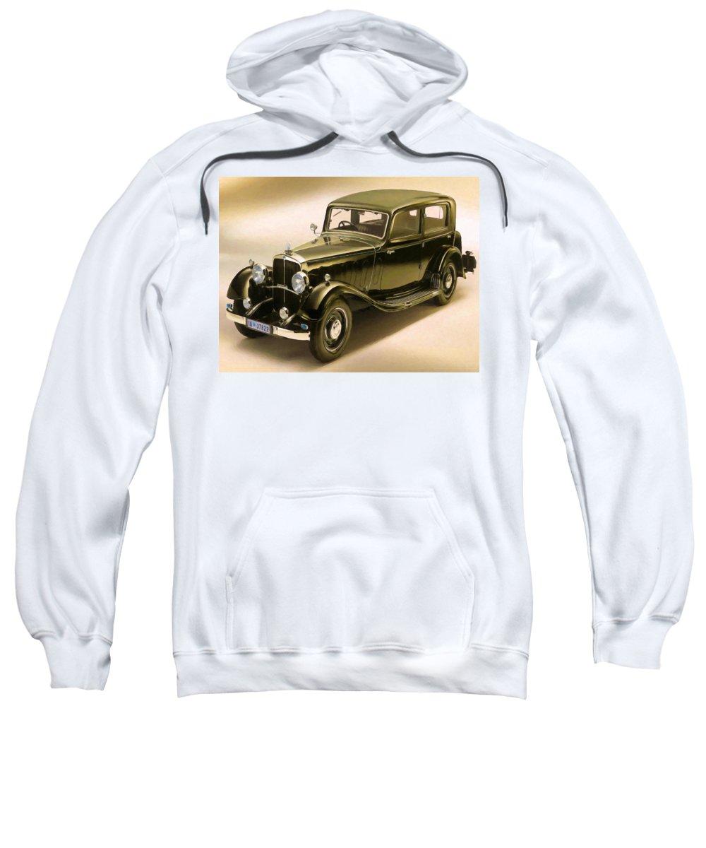 Maybach Sweatshirt featuring the painting Maybach Car 6 by Jeelan Clark