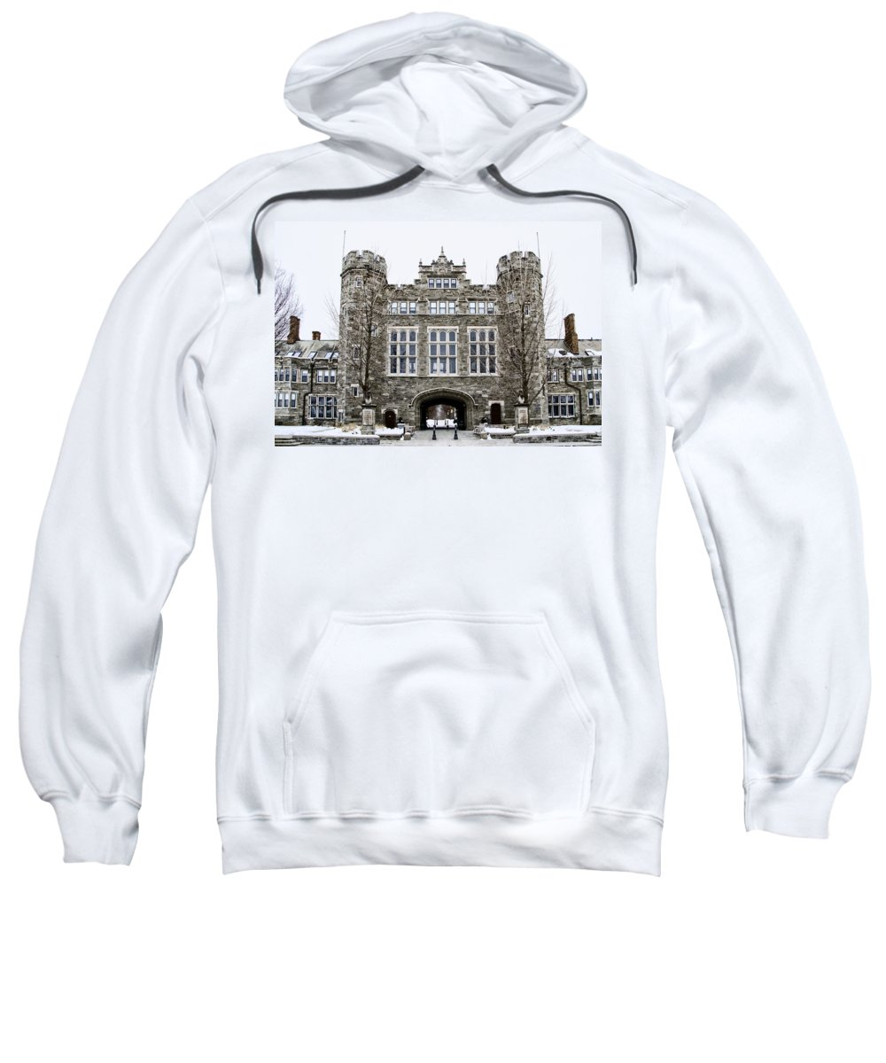 Mcbride Sweatshirt featuring the photograph Mcbride Gateway - Bryn Mawr College by Bill Cannon