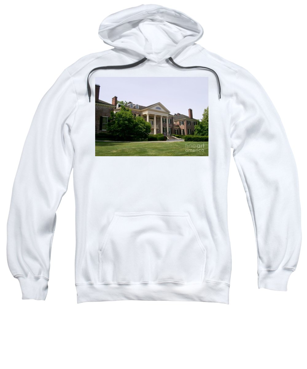 Robert R. Mccormick Museum Sweatshirt featuring the photograph Mccormick Mansion by Laurie Eve Loftin