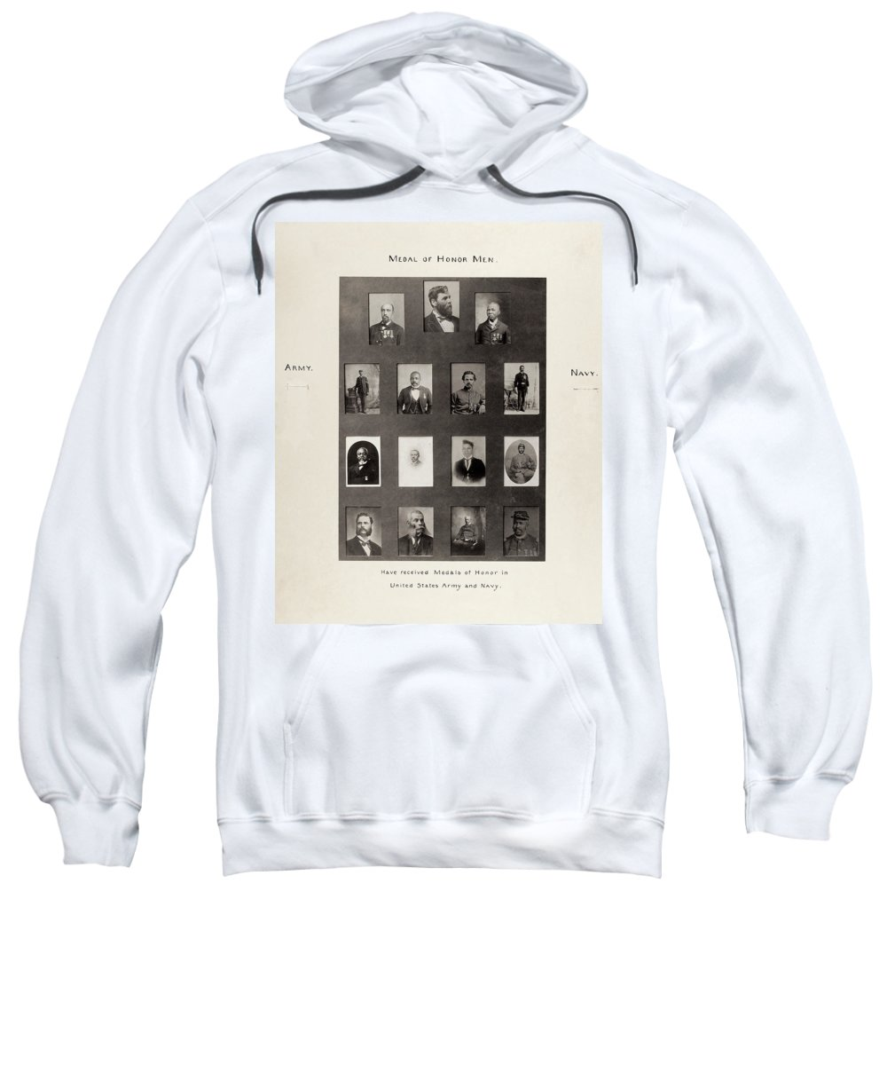 1899 Sweatshirt featuring the photograph Medal Of Honor Recipients by Granger