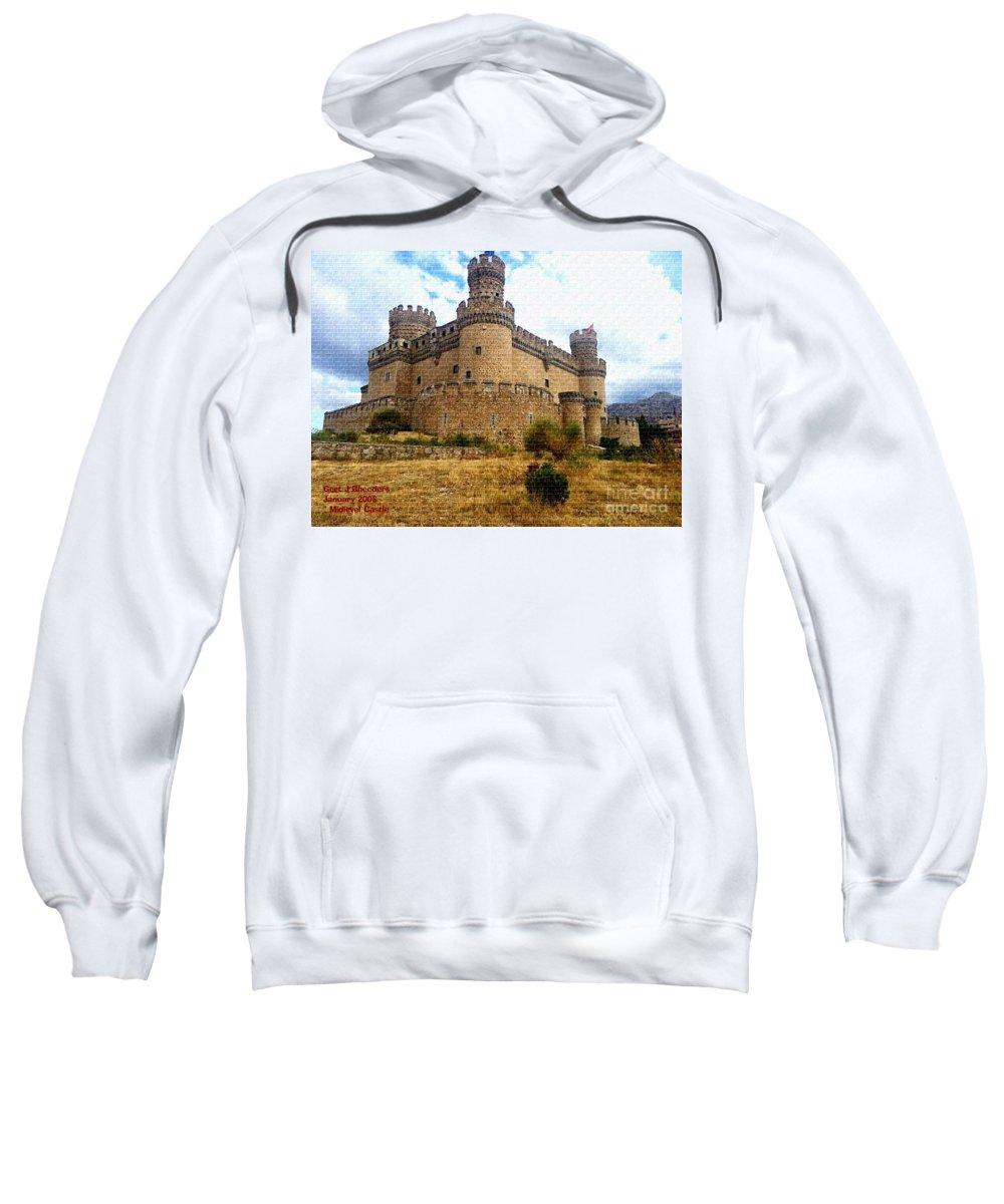 Art Sweatshirt featuring the painting Medievel Castle by Gert J Rheeders