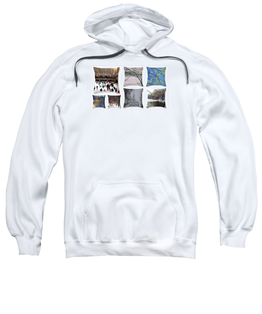 Winter Sweatshirt featuring the photograph Memories Of Winter - A Collage by Dora Sofia Caputo Photographic Design and Fine Art