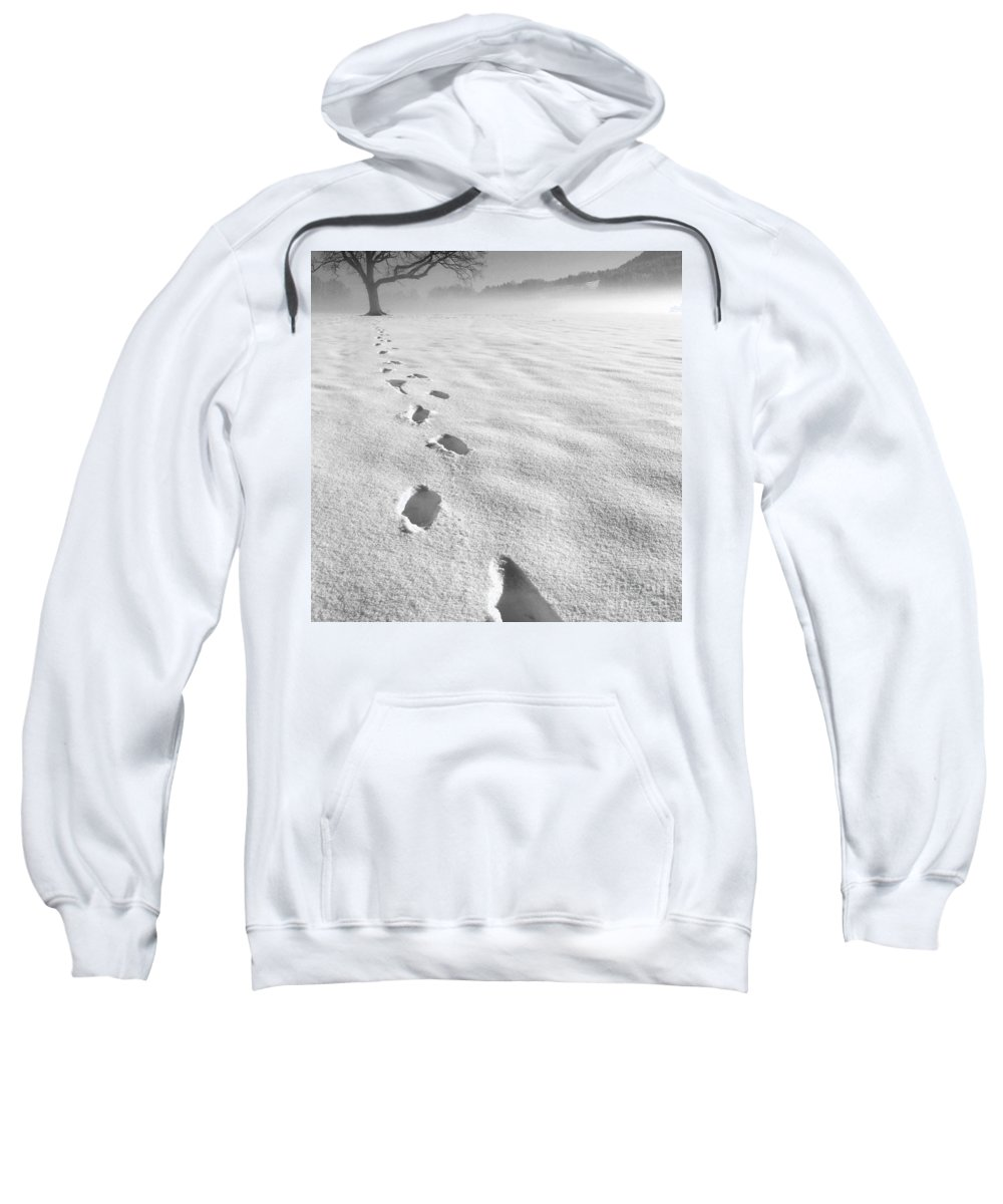 (c) Paul Davenport Sweatshirt featuring the photograph Memory Traces Of A Cold Day by Paul Davenport