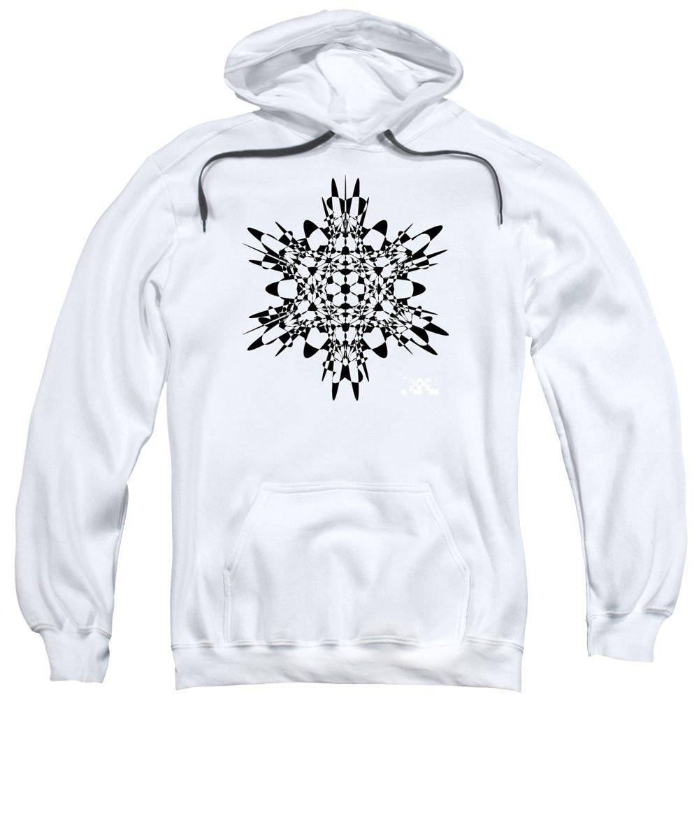 Hypercube Sweatshirt featuring the digital art Metatron Cube A Version by Steven Dunn