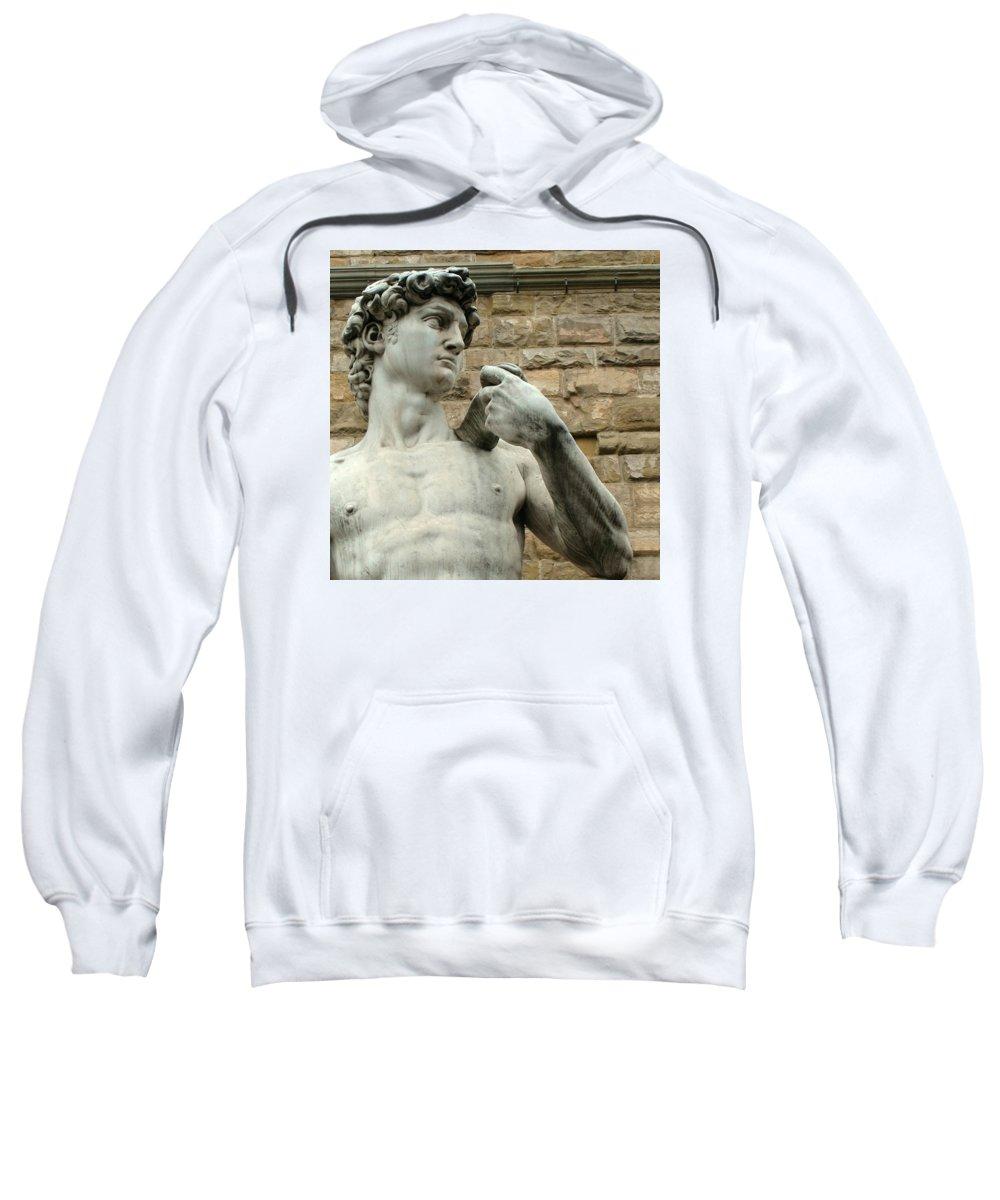 Michelangelos David Sweatshirt featuring the photograph Michelangelo's David 1 by Ellen Henneke