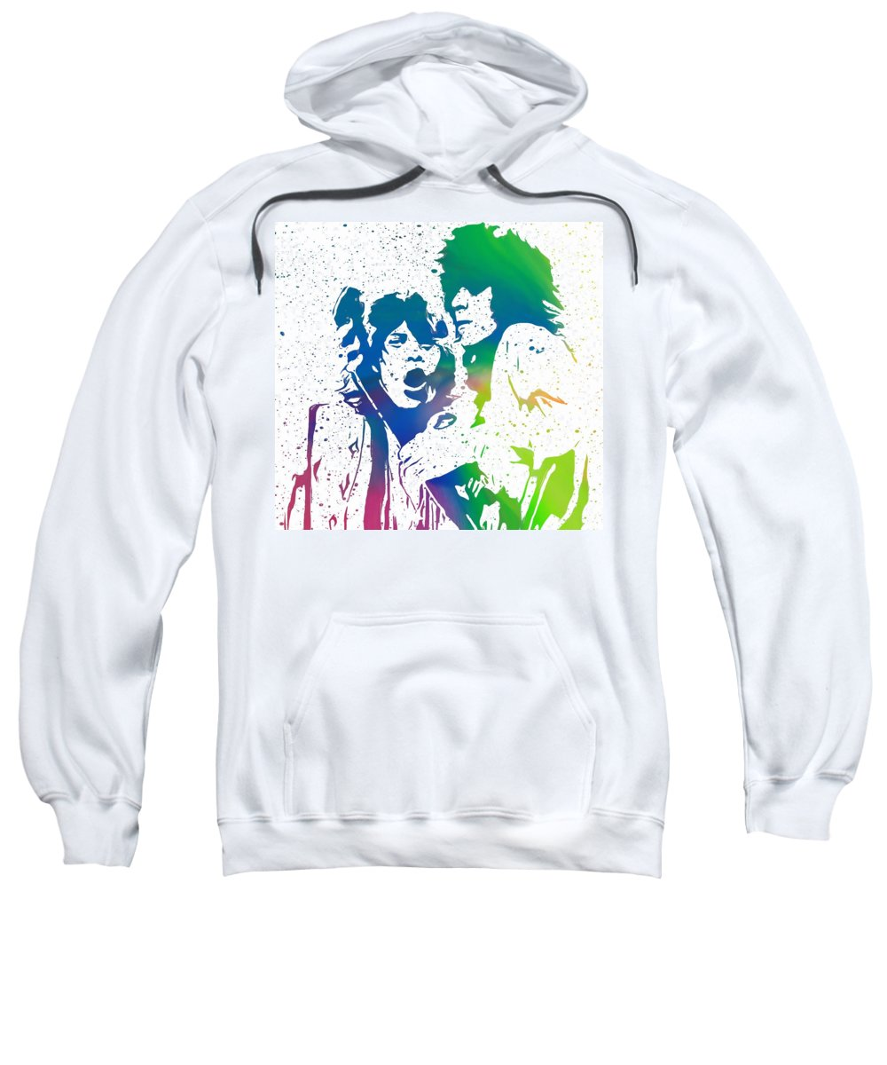 The Rolling Stones Mick And Keith Sweatshirt featuring the digital art Mick Jagger And Keith Richards by Dan Sproul
