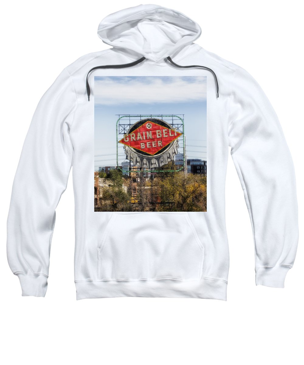Grain Belt Beer Sweatshirt featuring the photograph Minneapolis Brew by Mountain Dreams
