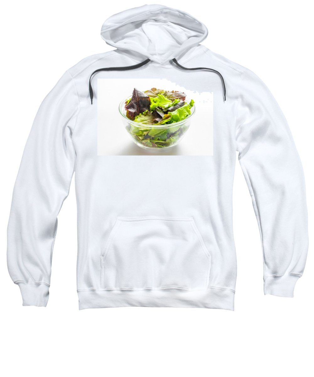 Cup Sweatshirt featuring the photograph Mixed Salad In A Cup by Alain De Maximy