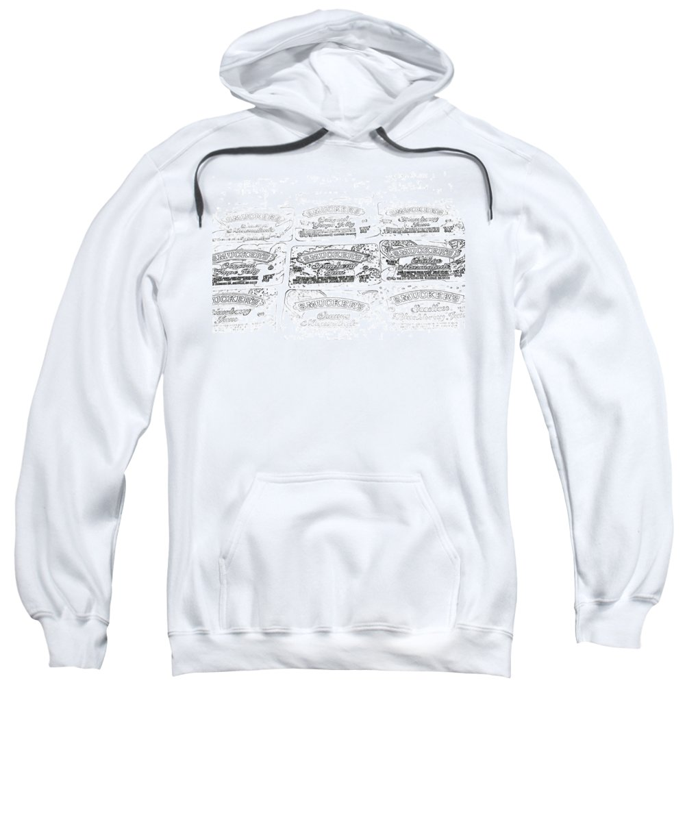 Sweatshirt featuring the digital art Mmmm Jelly by Cathy Anderson