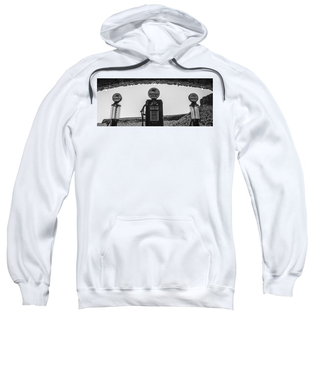 Route 66 Sweatshirt featuring the photograph Mobilgas Pumps by Angus Hooper Iii