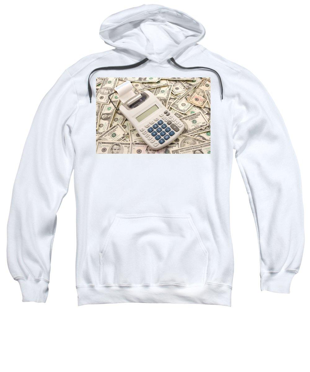Adding Machine Sweatshirt featuring the photograph Money by Keith Webber Jr