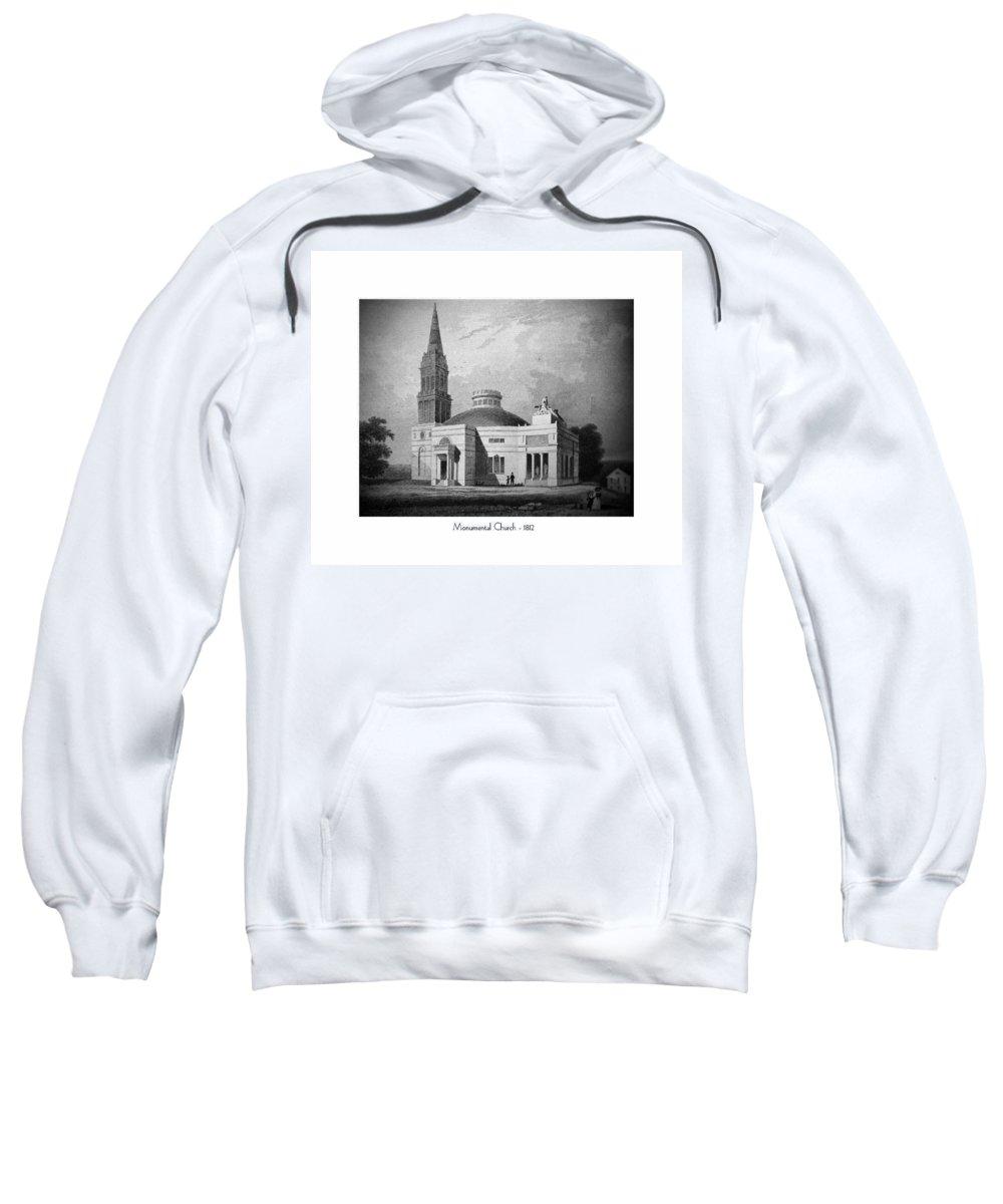 Monumental Church Sweatshirt featuring the digital art Monumental Church - 1812 by John Madison