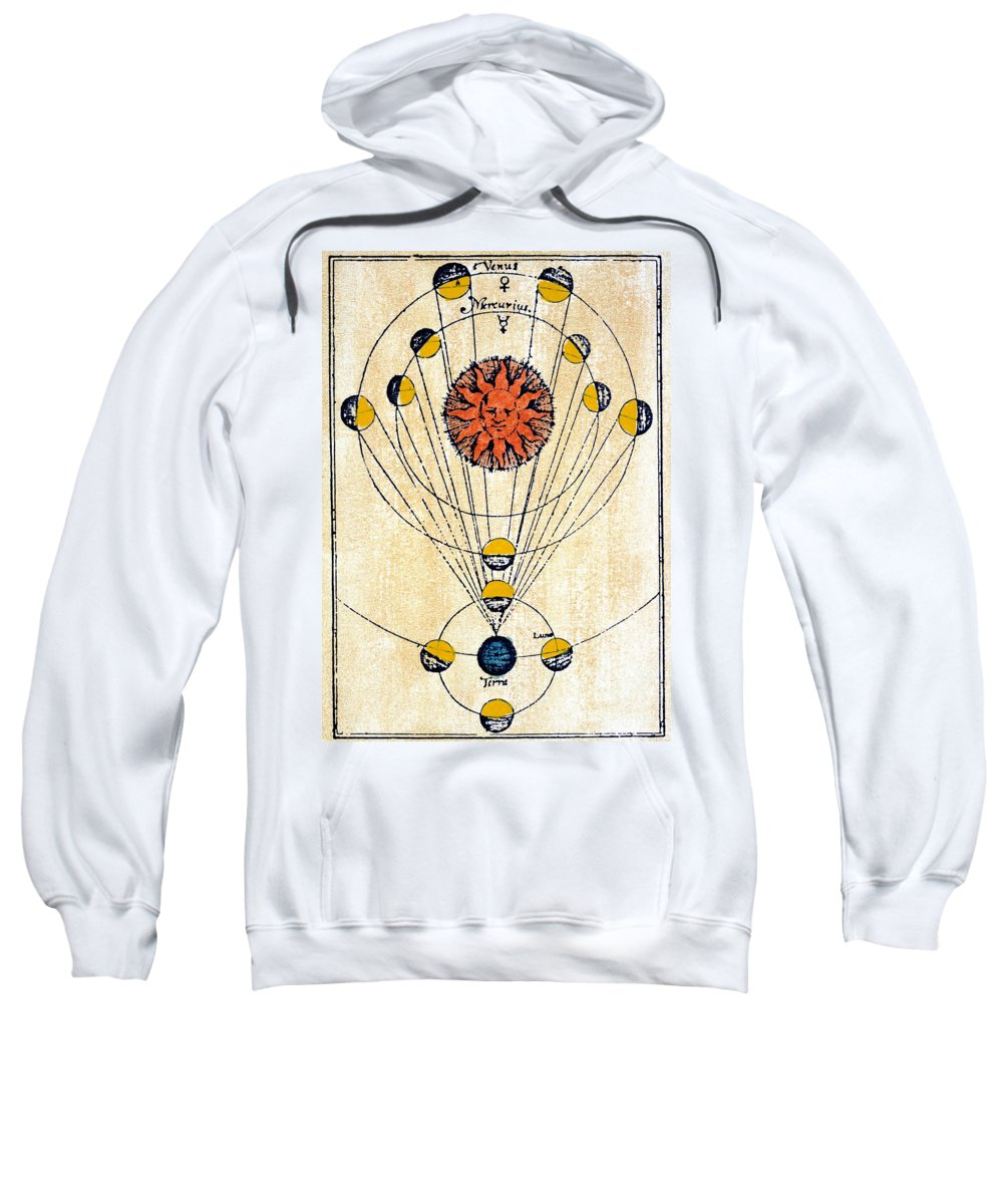 1643 Sweatshirt featuring the photograph Moon Phases by Granger