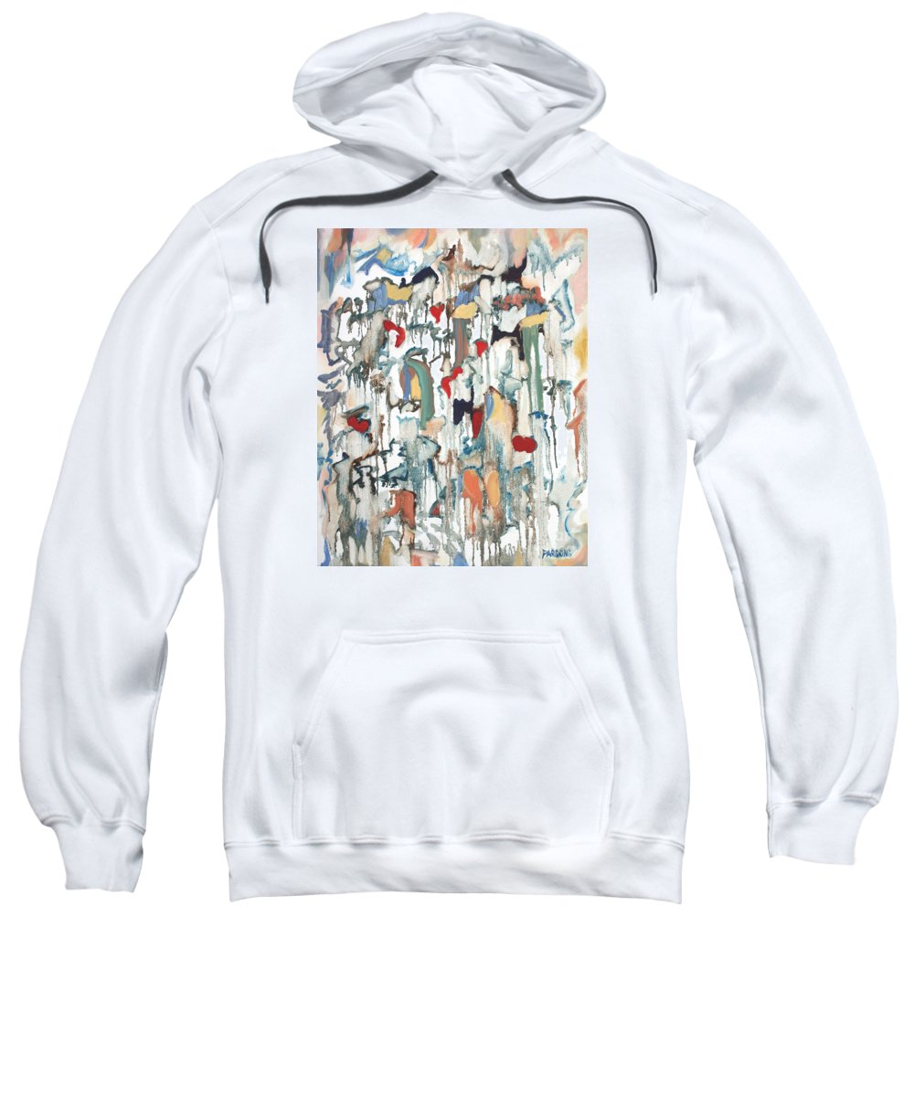 Moon Drops Sweatshirt featuring the painting Moondrops by Pamela Parsons