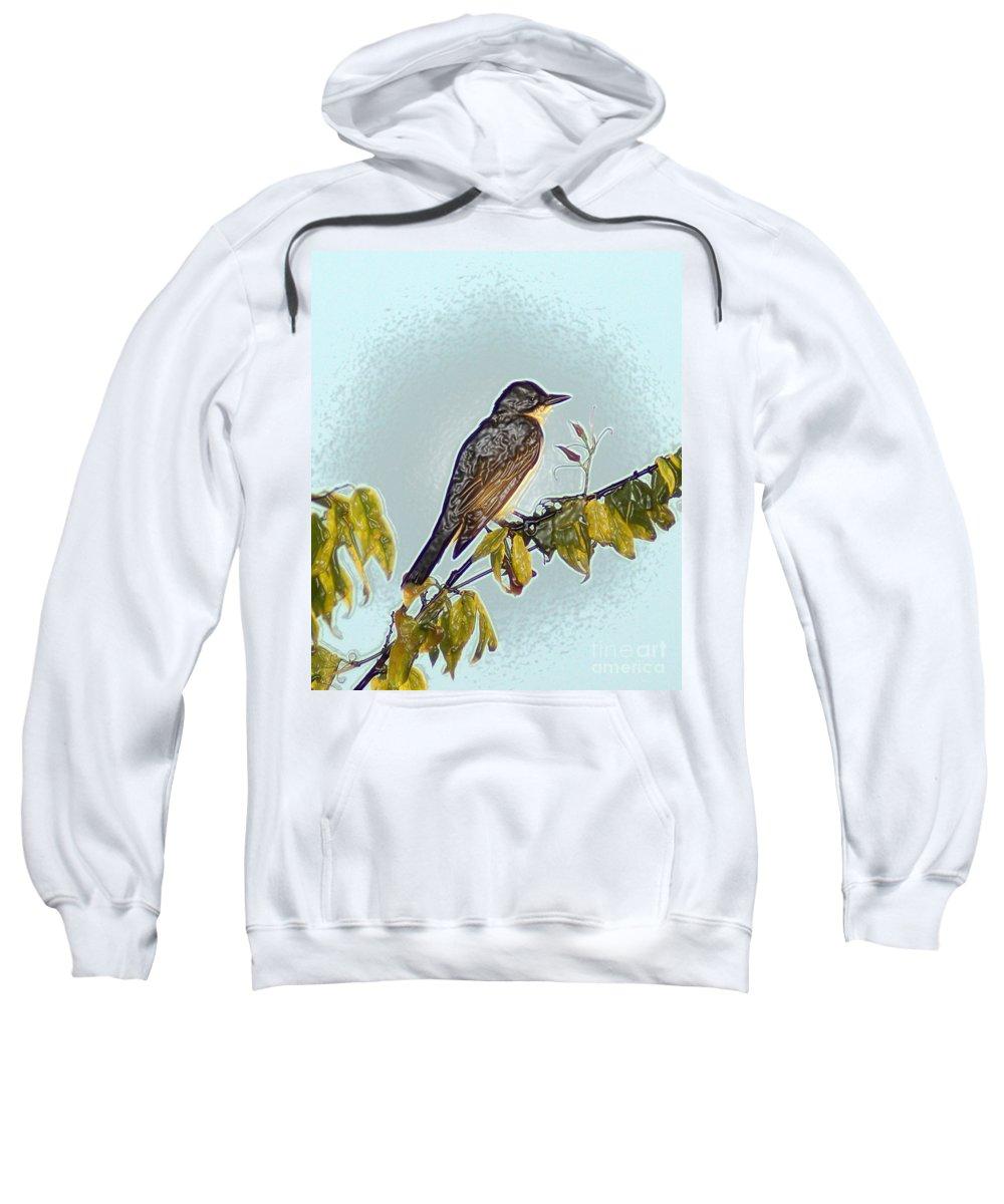 Morning Bird Sweatshirt featuring the photograph Morning Bird by Kim Pate