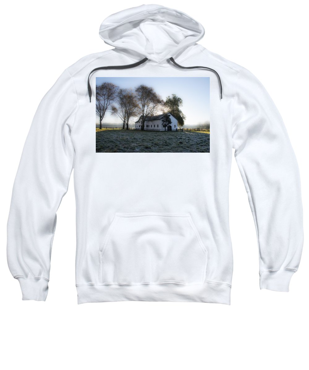 Morning Sweatshirt featuring the photograph Morning In Whitemarsh - Widener Farms by Bill Cannon