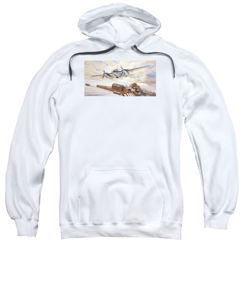 Aviation Sweatshirt featuring the painting Mosquitoes Over Jericho by Marc Stewart