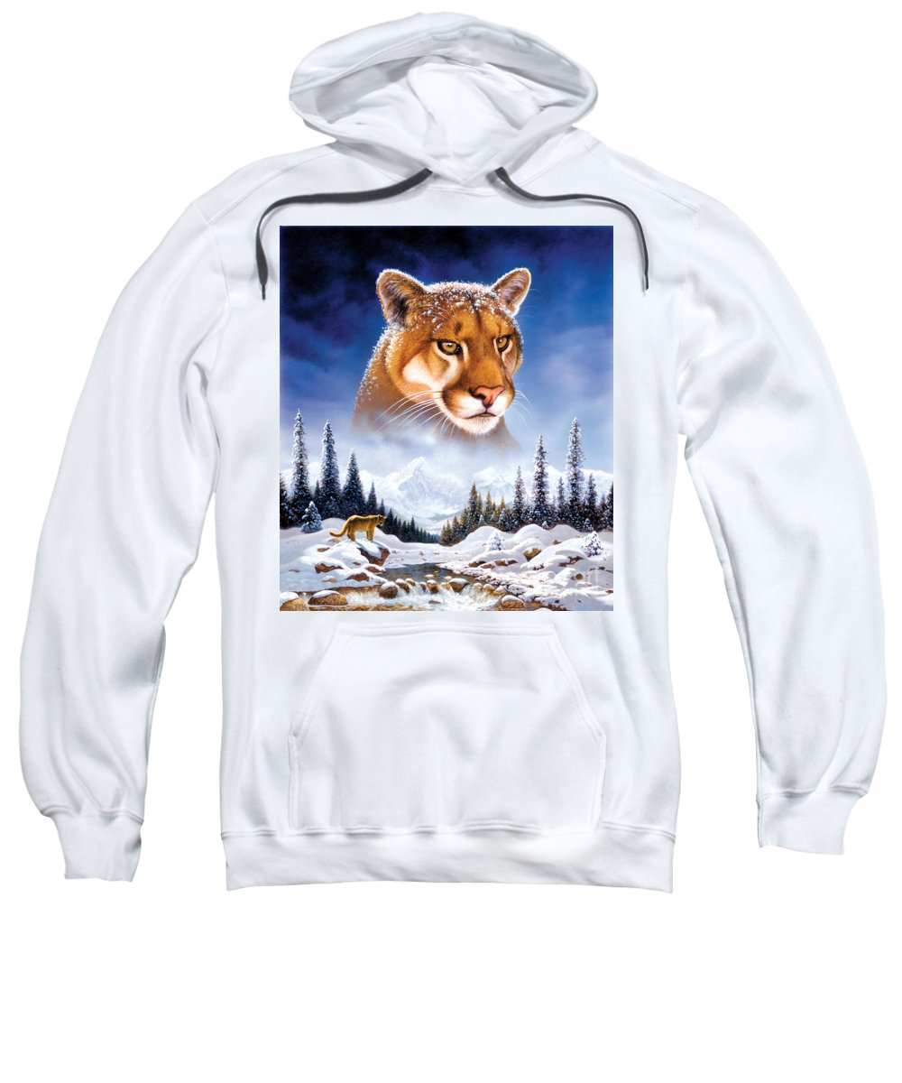 Animal Sweatshirt featuring the photograph Mountain Lion by MGL Studio - Chris Hiett