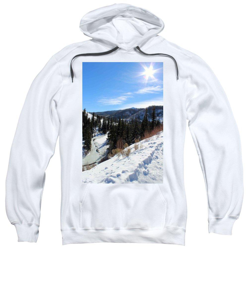 Mountain Sweatshirt featuring the photograph Mountain Sun by Fiona Kennard