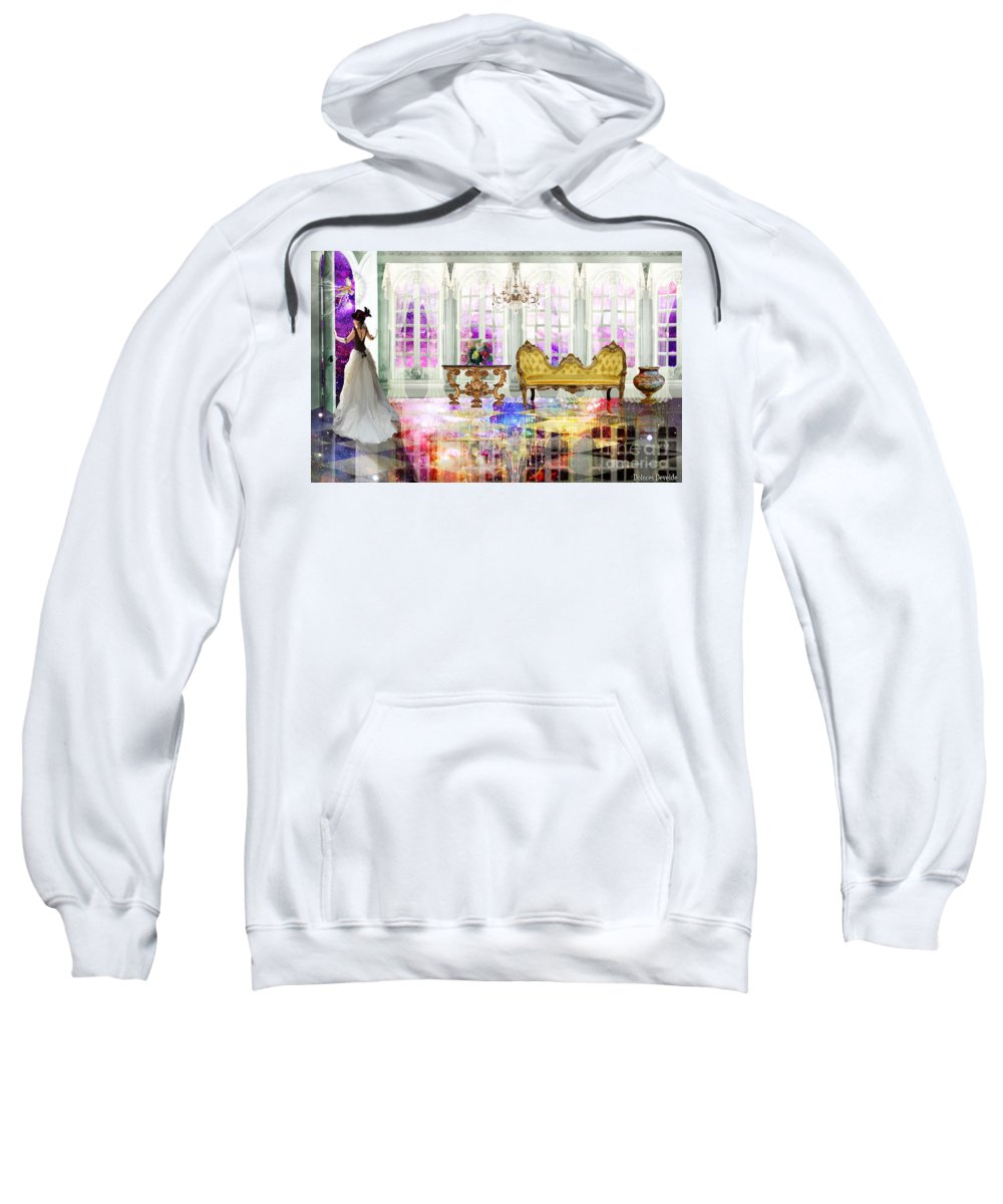 John 14: 2 In My Fathers House There Are Many Room Sweatshirt featuring the digital art My Fathers House by Dolores Develde